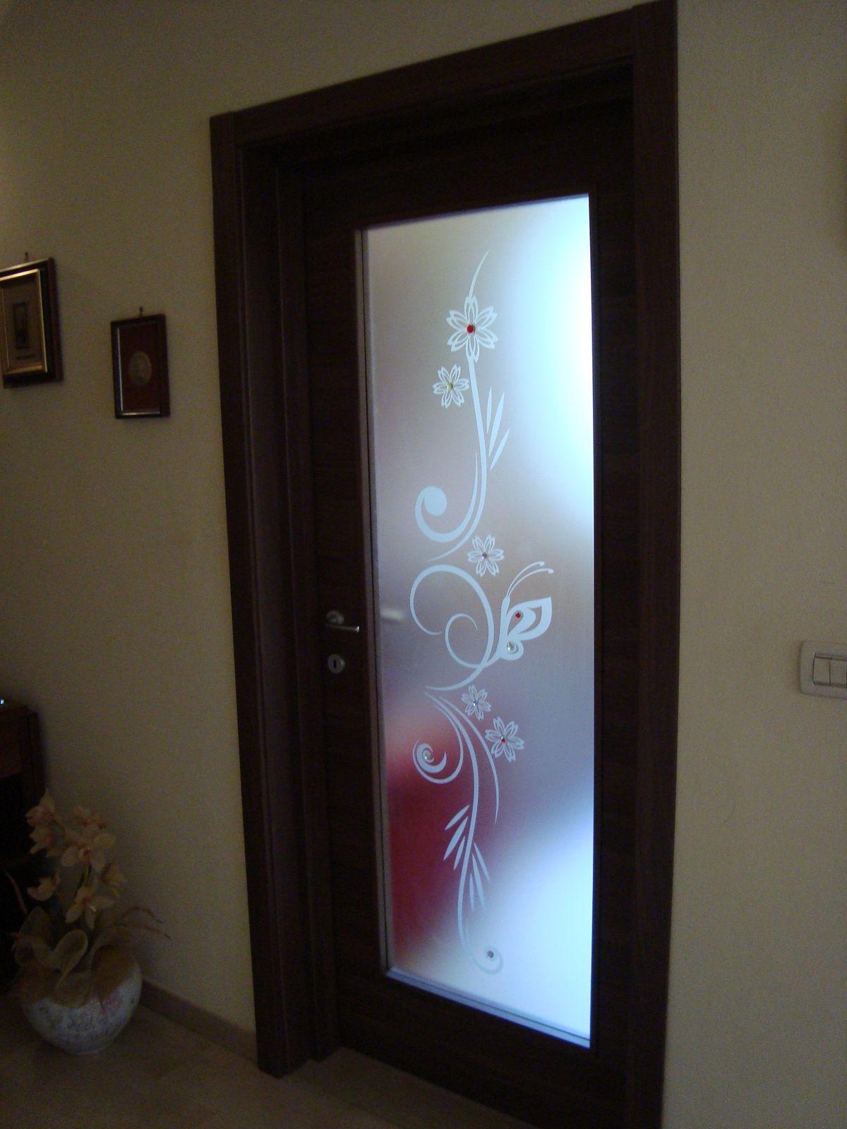 Porte Con Vetro Satinato vetro satinato per porta interna con sabbiatura e murrine