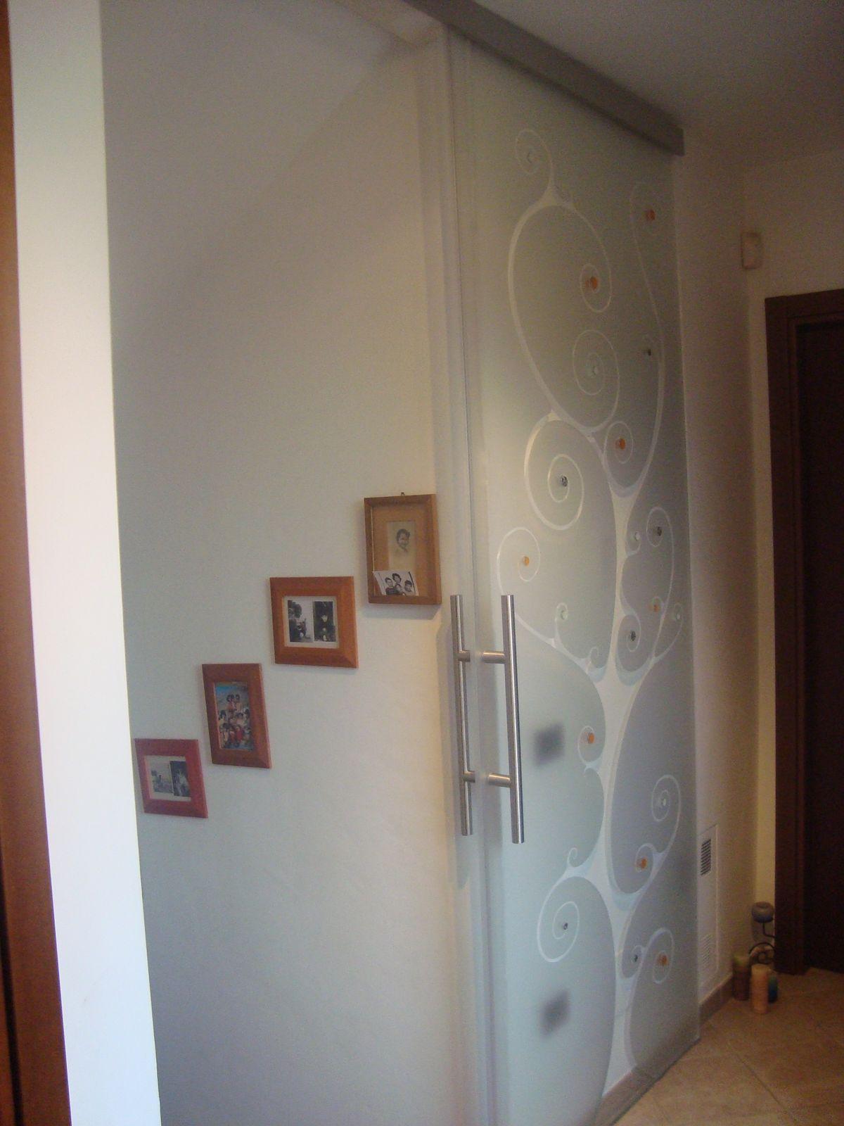 Porta Scorrevole In Vetro A Napoli.Porte Scorrevoli Con Vetro Satinato Great Vetro Per Porte Decoro